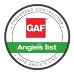 GAF Preferred Contractor badge