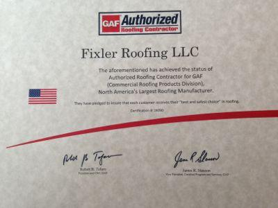 GAF Authorized Certificate